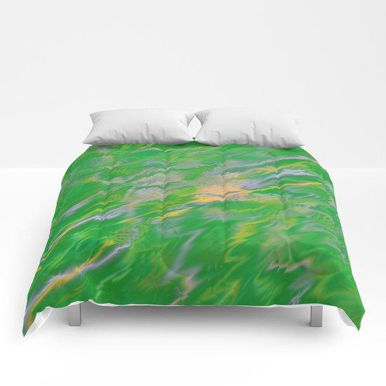 Pearl Green Water Comforters