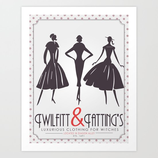 Twilfitt and Tatting's Art Print