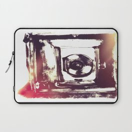 Digital Drawing of a Very Old Fashioned Camera Laptop Sleeve