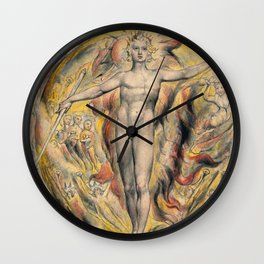 William Blake - The Sun At His Eastern Gate Wall Clock