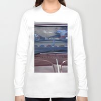 volkswagen Long Sleeve T-shirts featuring volkswagen beetle car by gzm_guvenc