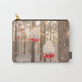 Rowan berries in the snow Carry-All Pouch
