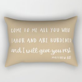 Matthew 11 Come to me Rectangular Pillow