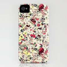 painted floral iPhone (4, 4s) Slim Case