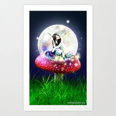 Fairy Moon Art Print