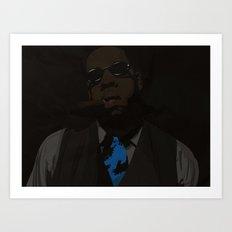 Jay-Z (Texture) Art Print