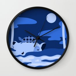 Animal Series: Blue Ippo + Turtle Wall Clock