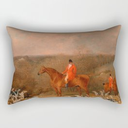 Hunting With Dogs and Horse Famous Oil Painting Rectangular Pillow