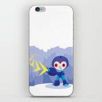 megaman iPhone & iPod Skins featuring Megaman by Maria Jose Da Luz