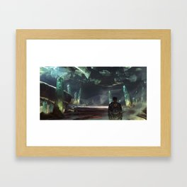 Cave of Lights Framed Art Print