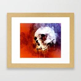 Cool Skull, Unique Best Skull Painting Framed Art Print