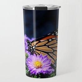 Butterfly on Asters III Travel Mug