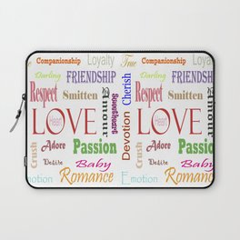 Love Synonyms Laptop Sleeve