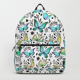 Blue and Yellow Butterflies Backpack