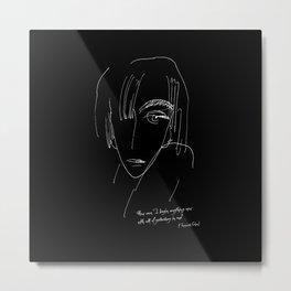 Sad Woman Face II Metal Print