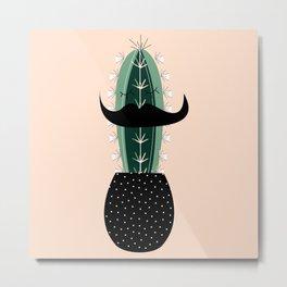 Mr. Succulent Metal Print