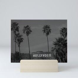 Hollywood Sign, Los Angeles, California black and white photograph / black and white photography Mini Art Print