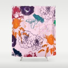 fall floral pink Shower Curtain