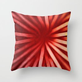 Intersecting-Red Throw Pillow