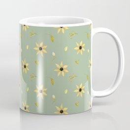 Watercolor floral botanical retro sage green pattern Coffee Mug