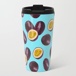 Live your passion on blue Travel Mug
