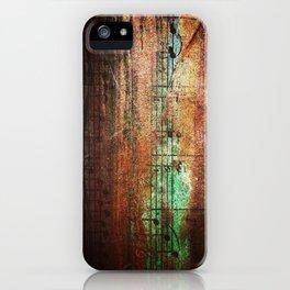 Bronze music iPhone Case