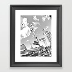 WHITEOUT : Turn Right Framed Art Print