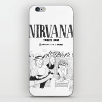 nirvana iPhone & iPod Skins featuring NIRVANA by millo