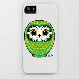 Green Fukuro Daruma iPhone Case