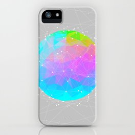 The Dots Will Somehow Connect (Geometric Sphere) iPhone Case