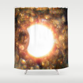 Solar Eclipse at 7,000 feet New Mexico 8/21/17 Shower Curtain
