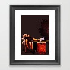 The Death of Marrat Framed Art Print