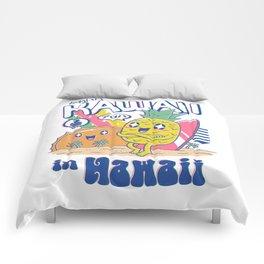 Kawaii in Hawaii Comforters