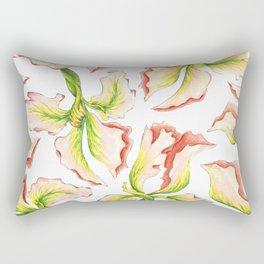 Pink Iris Rectangular Pillow