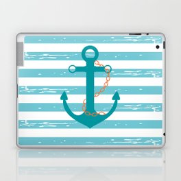 AFE Nautical Teal Ship Anchor Laptop & iPad Skin