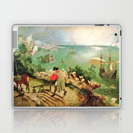 Landscape With The Fall Of Icarus Painting Pieter Bruegel The Elder Laptop & iPad Skin