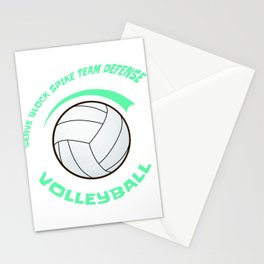 Cool Word Art Volleyball Gift Print Volleyball Team Print Stationery Cards