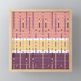 Retro Purple Framed Mini Art Print