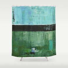 Sky Blue Sky Contemporary Abstract Landscape McNulty Shower Curtain