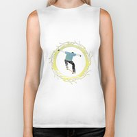 skateboard Biker Tanks featuring Skateboard 3 by Aquamarine Studio