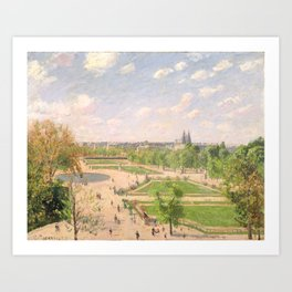 """Camille Pissarro """"The Garden of the Tuileries on a Winter Afternoon"""" Art Print"""