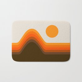 Golden Horizon Diptych - Left Side Bath Mat