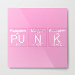 Periodic Punk Metal Print