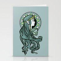 nouveau Stationery Cards featuring Zelda Nouveau by Karen Hallion Illustrations