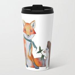 Fox and Hedgehog Have a Picnic Travel Mug