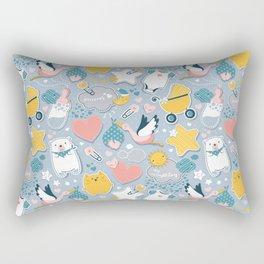My Baby's Calendar 2019 // baby girl or boy Rectangular Pillow