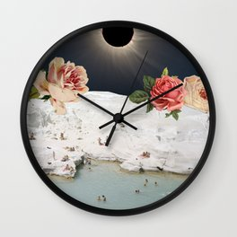 FLORAL ECLIPSE Wall Clock