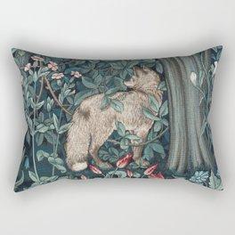 William Morris Forest Fox Tapestry Rectangular Pillow