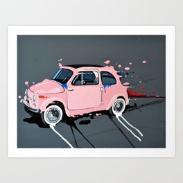 The pink lady Art Print