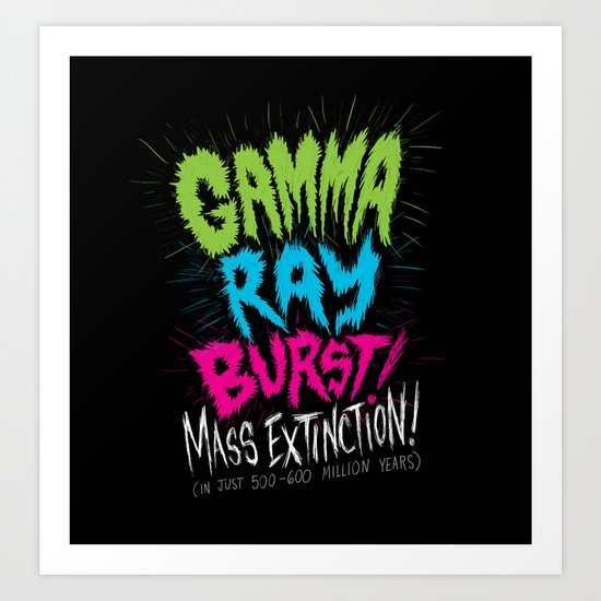 Gamma Ray Burst Art Print